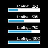 Progress Loading Bar. Set Of Loading Icons. Load. Load Icons poster