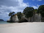 Cathedral Cove And Beach, New Zealand