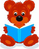 picture of reading book  - Vector clip - JPG