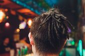 Male African Mohawk Pigtails Cornrows Mans Braids. poster