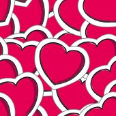 Vector hearts seamless background
