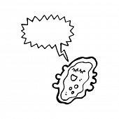 germ cartoon with speech bubble