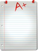 Spotlit Wide-Ruled Notebook Paper Tacks & Grade