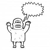 ogro com desenhos animados de bolha do discurso