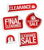 Final clearance sale stickers.