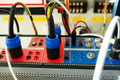 Relay Protection Testing Device. Engineering By Electrical Tool. Maintenance Relay Protections With  poster
