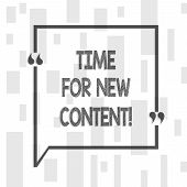 Handwriting Text Writing Time For New Content. Concept Meaning Copyright Publication Update Concept  poster