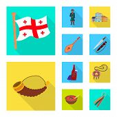 Vector Design Of Culture And Sightseeing Logo. Collection Of Culture And Originality Stock Symbol Fo poster