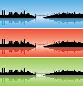 Colourful Istanbul silhouettes