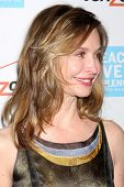 LOS ANGELES - OCT 26:  Calista Flockhart arrives at the 41st Annual Peace Over Violence Humanitarian
