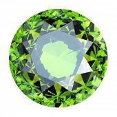 stock photo of peridot  - Round Gemstone isolated - JPG