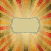 Square Shaped Sunburst With Speech Bubble