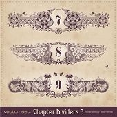 retro floral chapter dividers (set 3)
