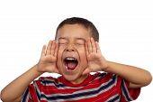 Hispanic Boy Shouting