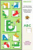 ABC learning educational puzzle