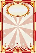 red and cream poster with big top. A large retro circus poster with a big top for you