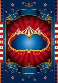 Red wheel circus. A new circus background for your show