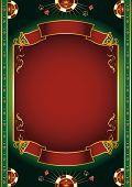 Постер, плакат: Вегас Фон с азартными играми элементы для плакат