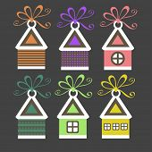 Set of stickers, labels, tags. Vector template