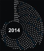 VECTOR - calendário 2014