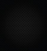 picture of orifice  - Abstract metallic black perforation textured template on black background - JPG
