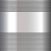 image of orifice  - Gray background perforated sheet - JPG