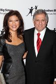 LOS ANGELES - OCT 26:  Julie Chen, Les Moonves arrives at the Big Brothers Big Sisters of Greater Los Angeles 2012 Rising Stars Gala at Beverly Hilton on October 26, 2012 in Beverly Hills, CA