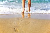Woman\'S Legs, Going To Sea