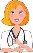 Verpleegkundige Blond glimlachen