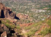 Echo Canyon Trail head at Camelback Mountain in Phoenix, Scottsdale, Arizona