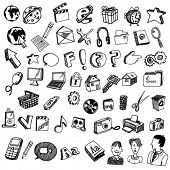 Collections of Doodled Internet Icons