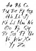 Ink hand-written calligraphic style letters