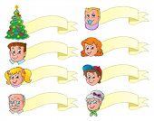 Christmas banners theme set 1 - vector illustration.