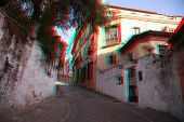 3D photo of the town of Ronda , Spain (need red-cyan anaglyph glasses)