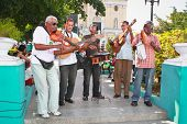 SANTIAGO-JAN. 21:Street musicians on January 21, 2010 in Santiago,Cuba.With the expansion of tourism