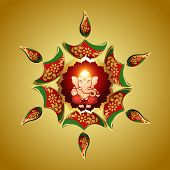 beautiful vector design of indian god ganesha