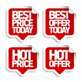 Best hot offers speech bubbles set.
