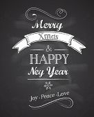 Chalkboard Christmas background with elegant text