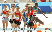 BARCELONA - JULY, 13: Competitors of 3000m steeplechase event during the 20th World Junior Athletics