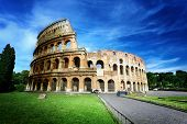 stock photo of field_stone  - Colosseum in Rome - JPG