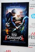 LOS ANGELES - NOV 4:  Rise of the Guardians Poster at the AFI Film Festival 2012