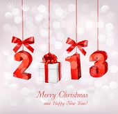 image of happy new year 2013  - Happy new year 2013  New year design template  Vector illustration - JPG