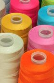 picture of rayon  - The group of colorful spool sewing threads - JPG