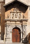Side entrance to the cathedral of Granada Spain