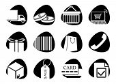 Vector icons on the theme of sales