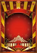 Gold circus background. A circus background with gold sunbeams