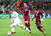 CLUJ-NAPOCA, ROMANIA - OCTOBER 2: Rooney in UEFA Champions League match between CFR 1907 Cluj and Ma