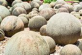 Round stones garden