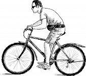 Man Riding A Cycle