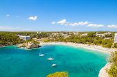 Cala Galdana - one of the most popular beaches at Menorca island, Spain.